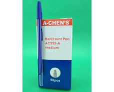 Ручка шариковая 0.7mm тм A-CHEN ~S   AC555-A (50 шт)