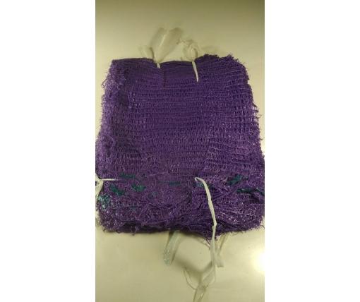 Мешок  овощная сетка (р21х31) 3кг фиолетовая с ручкой (100 шт)
