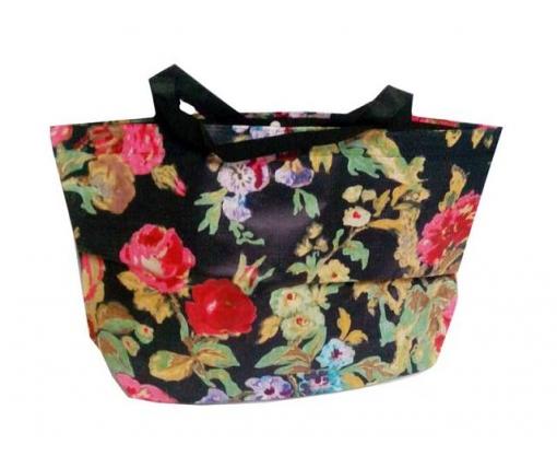 Женская хозяйственная сумка  из ткани (47/33/10)в цветах (20 шт)