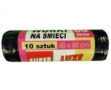 Пакеты полиэтиленовые для мусора 60литров (10шт) Люкссупер (1 рул)