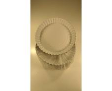 Бумажная тарелка круглая 200мм белая (100 шт)