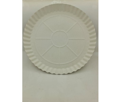 Бумажная тарелка одноразовая 275мм белая (100 шт)