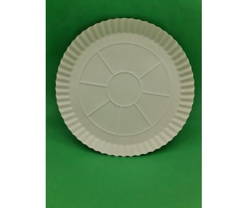 Бумажная тарелка под пиццу 300мм белая (100 шт)