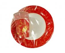 """Набор одноразовый бумажной посуды №4/23 """"Праздничная"""" (1 пач)"""