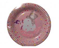 Бумажная тарелка с рисунком  19см