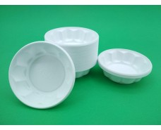 Одноразовая креманка пластиковая белая (100 шт)