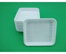 Одноразовый лоток  пластиковый , прямоугольный (размер 130мм * 150мм) (100 шт)