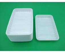 Одноразовая тарелка прямоугольная   пластиковая (размер 155х225мм) (100 шт)