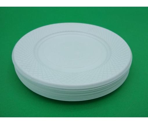 Одноразовая тарелка дисертная , мелкая  172мм  (50 шт)