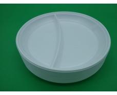 Тарелка 2-х секционная пластиковая диаметр 205мм  (100 шт)