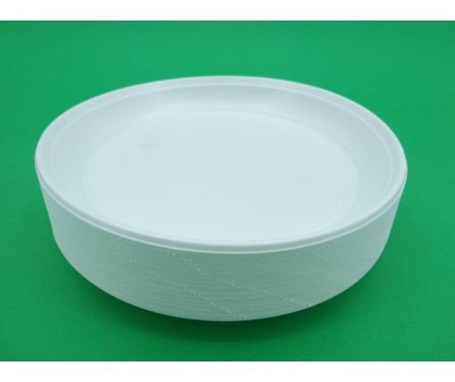 Одноразовая тарелка для второго блюда диаметр  205мм Эко (100 шт)