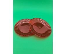 Стекловидная тарелка  205 мм для второго блюда красная (10 шт)