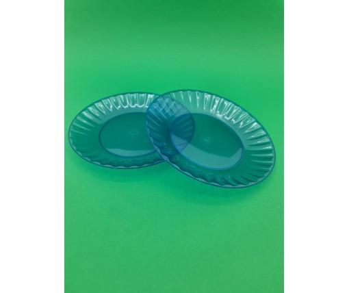 Одноразовая тарелка  стеклоподобная диаметр 205 мм  синяя (10 шт)
