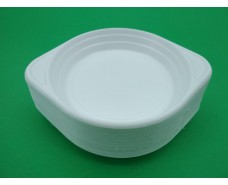 Тарелка одноразовая пластиковая обьем 300мл (диаметр 152мм) (100 шт)