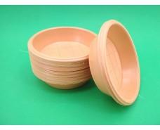 Цветная одноразовая тарелка обьем 350мл (50 шт)