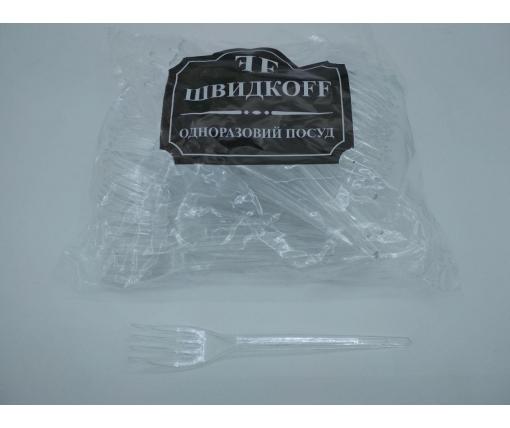Вилка «Super» стеклоподобная  Юнита прозрачная (100 шт)