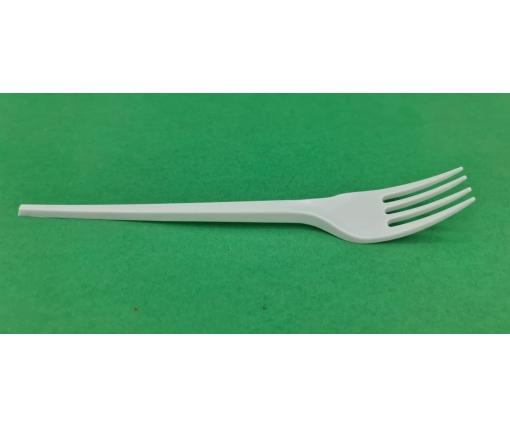 Вилка пластиковая СПГ белая (100 шт)