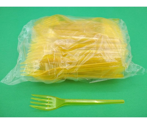 Вилка  «Super» желтая   Юнита (100 шт)