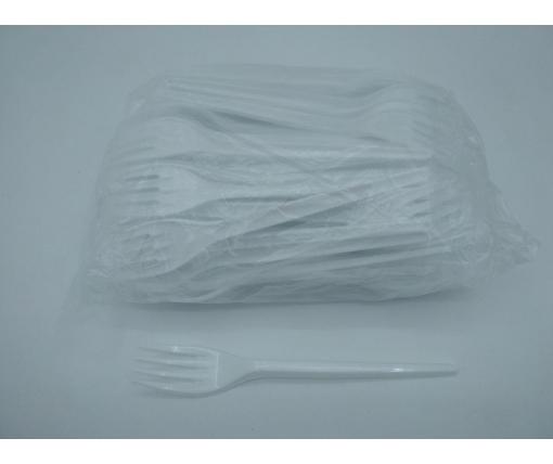 Вилка одноразовая Супер Юнита белая  (100 шт)