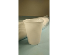 Стакан пластиковый 200Kгр Атем белый (100 шт)