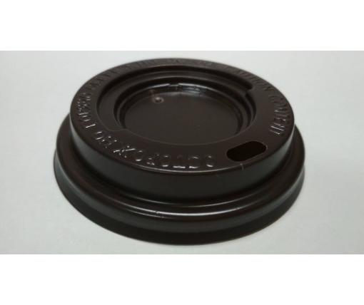 Крышка на стакан  бумажный  Ф72 (гар) коричневая Харьков  (100 шт)