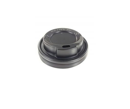 Крышка под стакан  бумажный  Ф80 (гар) черная Днепр (на 340мл и 300мл ) (50 шт)