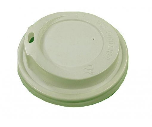 Крышка под стакан  бумажный  Ф90 (гар) белая Днепр (на 500мл и 400мл) (50 шт)