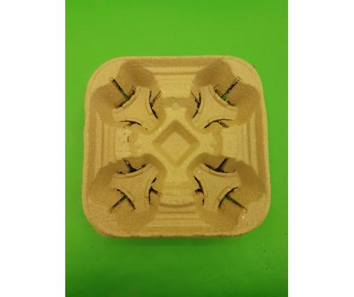 Держатель  бумажный для 4-х (четырех )  стаканов (холдер) (100 шт)