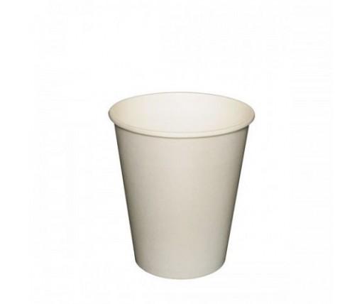 Бумажный стакан 175мл  белый  (FC) (50 шт)
