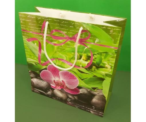Пакет бумажный подарочный квадратный ы 23*24*10(артKV-055) (12 шт)