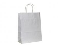 Пакет с ручками бумажный 35*25*14 белый №24 (25 шт)