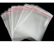 Пакет прозрачный полипропиленовый + скотч  23*23+4\25мк +скотч (1000 шт)