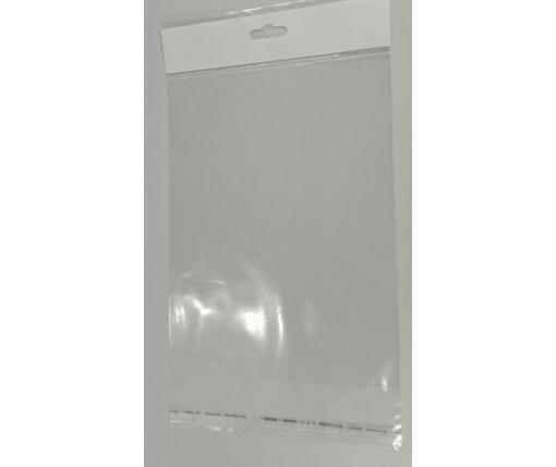 Пакет прозрачный полипропиленовый + скотчк  15*23,5+4\25мк +скотч(+еврослот3,5) (1000 шт)