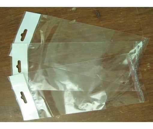 Пакет прозрачный полипропиленовый + скотчк  9*22,5+3\25мк +скотч(+еврослот3,5) (1000 шт)