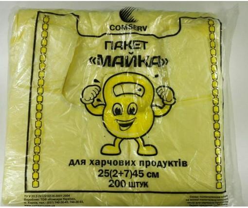 Майка фасовочная п\э №25*45 Крепыш Сomserv(200шт) (1 пач)