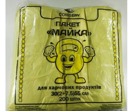 Майка фасовочная п\э №30*55 Крепыш Сomserv(200шт) (1 пач)