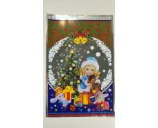 фольгированный пакет Н.Г (20*30) №01 Снегурочка и олень (100 шт)