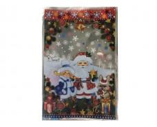 фольгированный пакет Н.Г (20*30) №29 Дед Мороз на хуторе (100 шт)