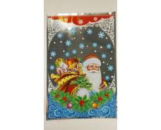 фольгированный пакет Н.Г (20*30) №36 Дед Мороз с подарками (100 шт)