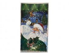 фольгированный пакет Н.Г (20*35) №24  Дед Мороз на зелёном (100 шт)