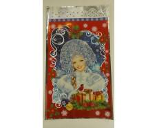 фольгированный пакет Н.Г (20*35) №26 Снегурочка и снегири (100 шт)