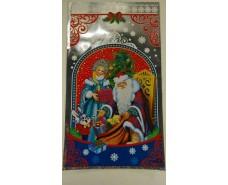 фольгированный пакет Н.Г (20*35) №27 Дед Мороз и зайка (100 шт)