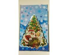 фольгированный пакет Н.Г (25*40) №21 Дед Мороз и ангел (100 шт)