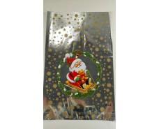 фольгированный пакет Н.Г (25*40) №23 Дед Мороз на санях (100 шт)