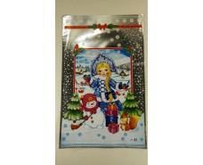 фольгированный пакет Н.Г (25*40) №33 Снегурочка и снеговик (100 шт)