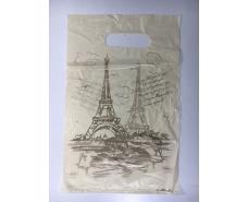 """Пакеты с вырубной ручкой (20*30) """"Париж""""ХВГ (100 шт)"""