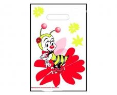 """Пакеты с вырубной ручкой (20*30) """"Пчелка """" ХВГ (100 шт)"""