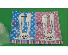 Пакет с прорезной ручкой  (30*37+3) Кролик Леоми (50 шт)