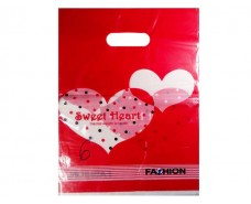 Пакет с вырубной ручкой Подарочный (25*35) № 6 китай (100шт) (1 пач)