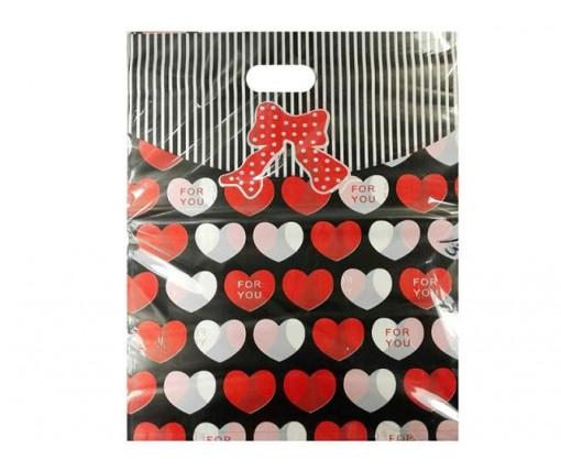 Пакет с вырубной ручкой Подарочный (40*50) №13 китай (100шт) (1 пач)
